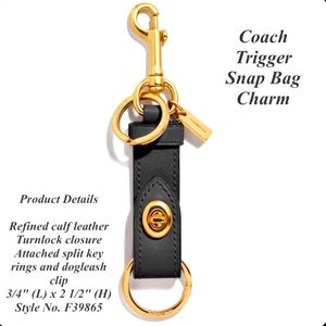 Coach Black Tigger Snap Bag Charm NWT 🔑☝🏻🥳🔑🔑